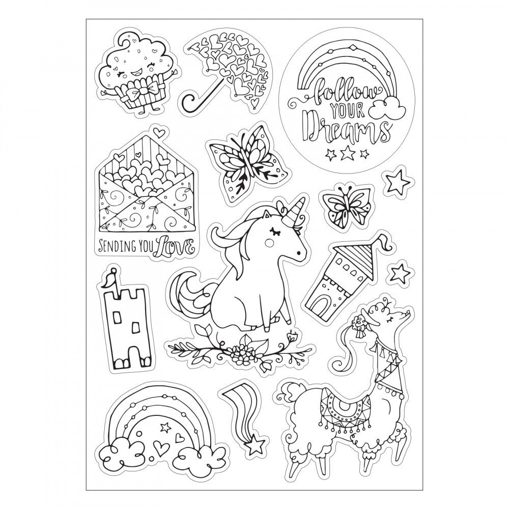 Sizzix Follow Your Dreams Coloring Stickers