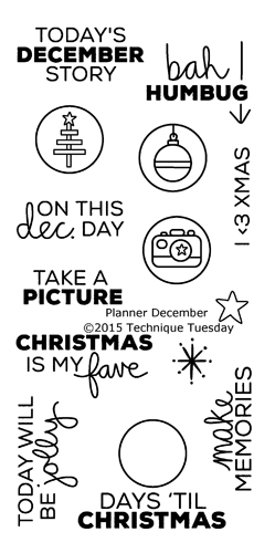 Technique Tuesday Planner December Story Stamps