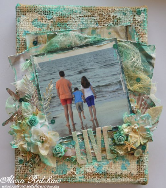 Burlap Beach Canvas with Alicia Redshaw
