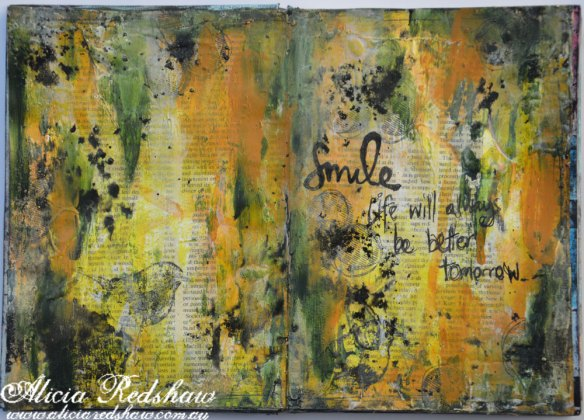 Art Journaling Class with Alicia Redshaw