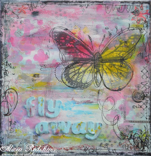 Mixed Media Canvas Class with Alicia Redshaw