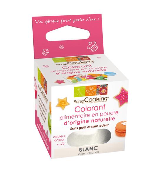 colorant alimentaire en poudre d origine naturelle blanc
