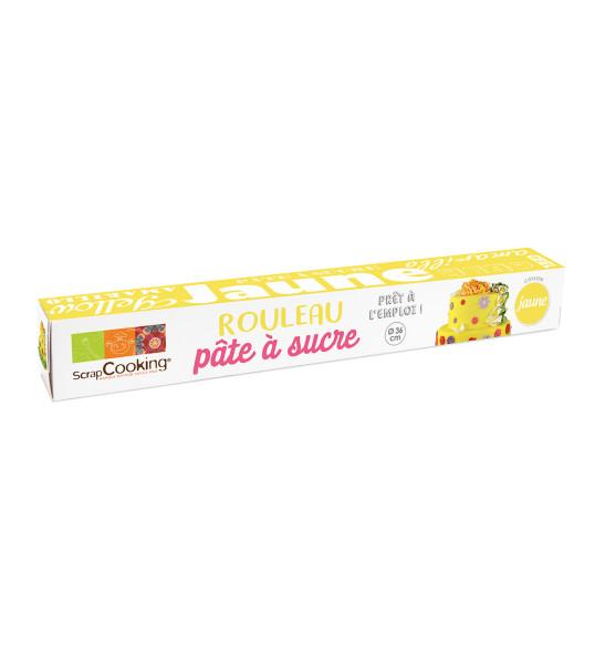 pate a sucre prete a l emploi rouleau jaune o36 cm