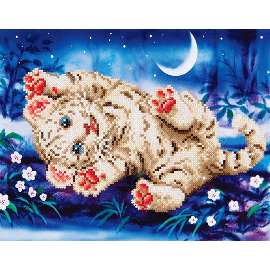 kit tableau strass diamond dotz bebe tigre