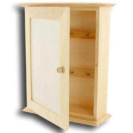 support a decorer en bois armoire pour cles 25 cm