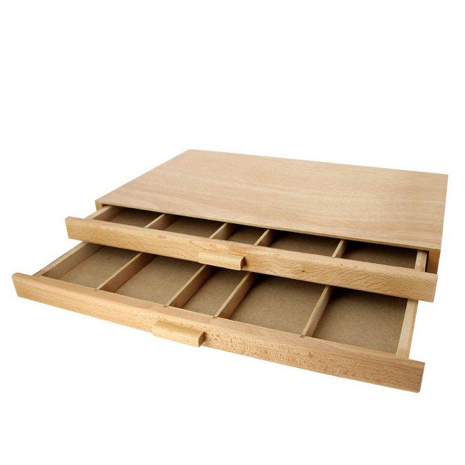 boite de rangement en bois 2 tiroirs