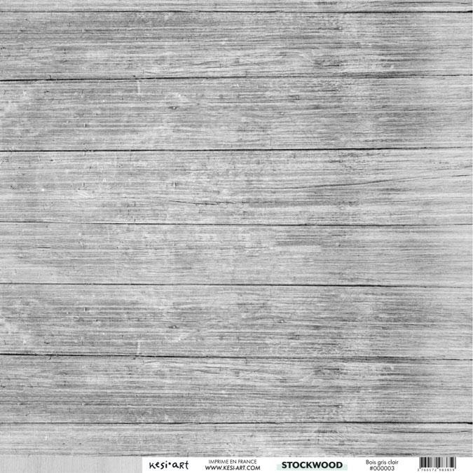 stockwood papier bois gris clair