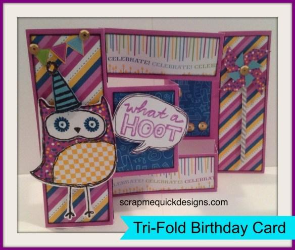 Tri Fold Birthday Card Outside