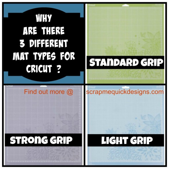 Why Are There 3 Different Mat Types For Cricut Scrap