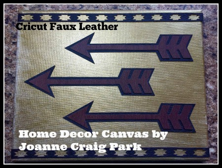 Joanne Craig Park_Home Decor on Canvas with Leather Arrows and trims