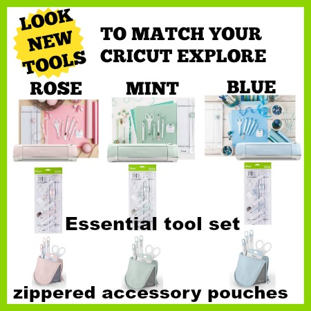 Blue Cricut Tool Accessory Pouch