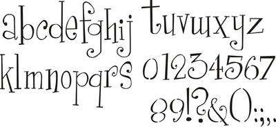 Girly Alphabet 3