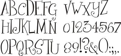 Girly Alphabet 1