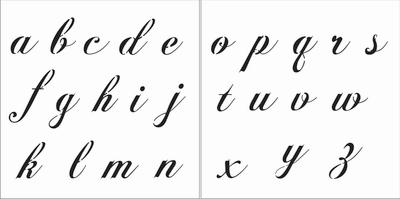Fancy Script Alphabet 4