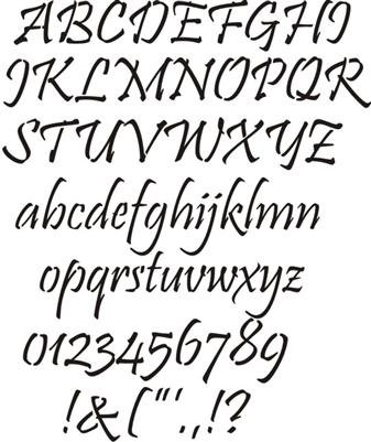 Pristine Alphabet to 2.75