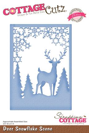 CottageCutz Deer Snowflake Scene Elites
