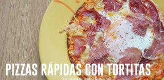 Pizzas Rápidas con Tortitas