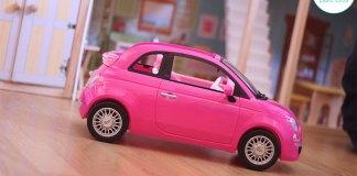 coche de barbie rosa
