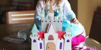 hacer un castillo de princesas con cartón