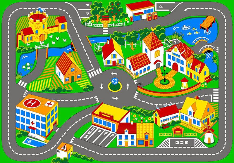 Imprimibles de carreteras gratis for Alfombras de juegos para ninos