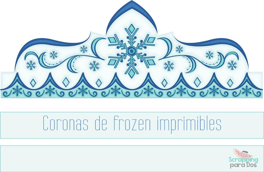 Coronas De Frozen Imprimibles Gratis