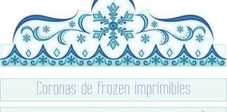 coronas para imprimir de Frozen