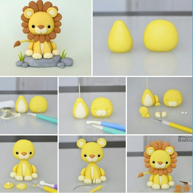 león de plastilina