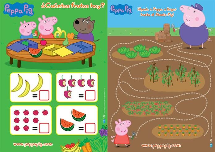 hábitos saludables en niños con Peppa Pig