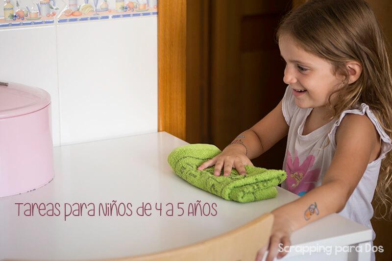 tareas para niños de 4 a 5 años