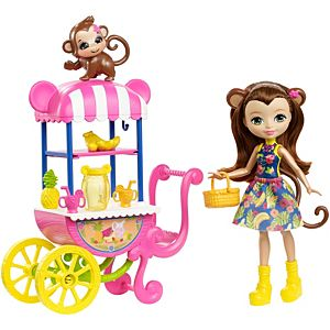 enchantimals carrito de frutas