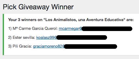 Los Animalistos ganadores