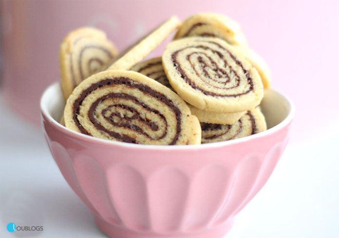 Galletas en Espiral de Vainilla y Choco Nussa