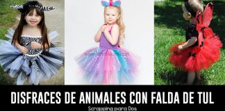 disfraces de animales con falda de tul