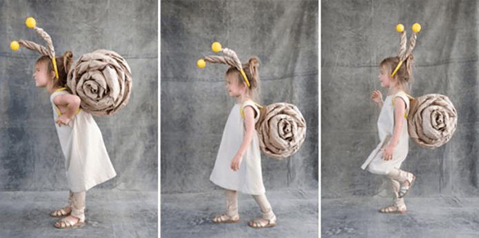 disfraz de caracol hecho en casa