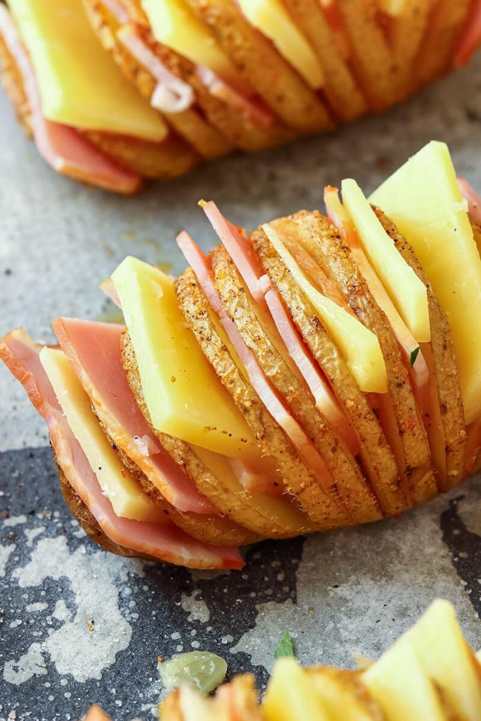 Patatas Rellenas al Horno Hasselback - Receta Fácil