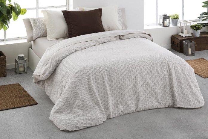 d5eae919f5a Funda nórdica de algodón orgánico beige 300. Fundas nórdicas y ropa de cama  Burrito Blanco