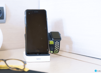 Base de carga Belkin PowerHouse para Apple Watch y iPhone