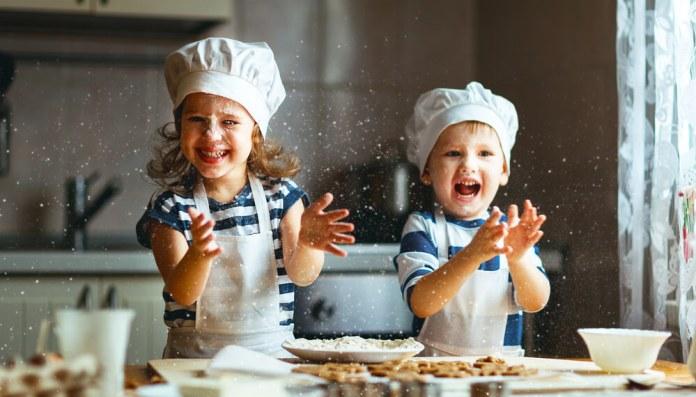 cocinar en casa con niños