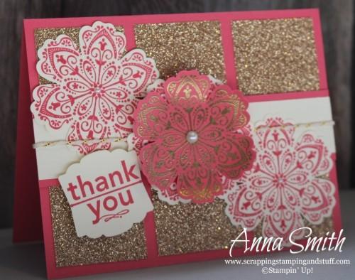 Glitz and Glitter Thank You Card