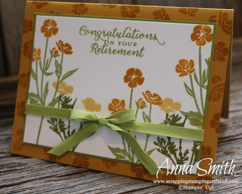 Wild About Flowers Retirement Card