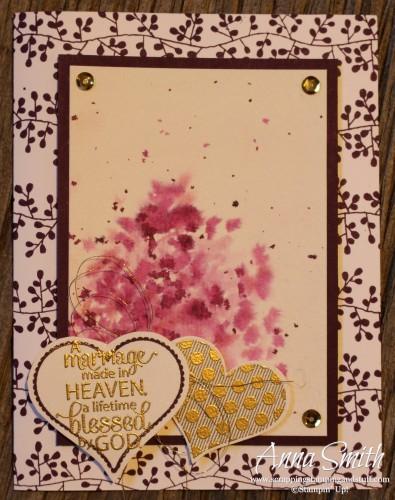 Watercolor Wedding Card