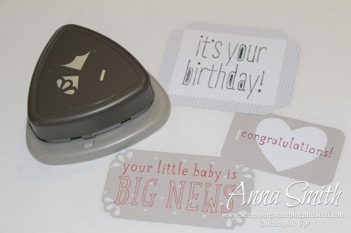 Stampin' Up! Curvy Corner Trio Punch - Make tags and labels in any size you want!