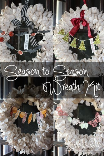 Season to Season Wreath Kit Video Tutoral. Decorate for fall, Halloween and Christmas.