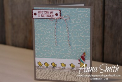 A Ducky Birthday Card - Barnyard Babies stamp set