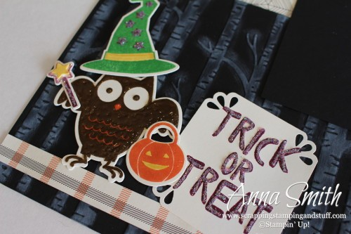 Howl-O-Ween Treat Scrapbook Page
