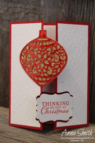 Embellished Ornaments Gate Fold Card