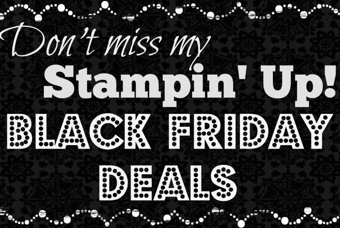 Stampin' Up! Black Friday Deals