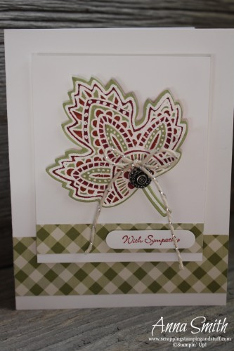 Lighthearted Leaves Sympathy Card