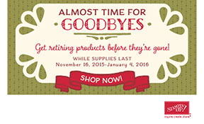 Stampin' Up! Retiring Holiday Products - get them while they last!