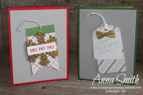 Quick and easy Christmas cards using the Oh What Fun Tag Kit